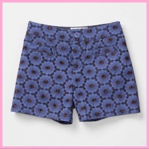 """ANTHRO ELEVENSES   """"Gerbera"""" Floral Lace Shorts"""